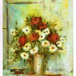 Specchio dell'anima - tela cm. 50 x 60 Elisa Geyer