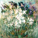 Intensa Primavera - tela cm. 100 x 100 Elisa Geyer