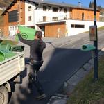 Mülldienst in Oberlech