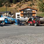 Zwischenlagerung des Materials am Schlosskopfparkplatz