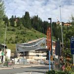 Banner abhängen beim Schlosskopfparkplatz