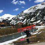 Abbau Winterwanderwege am Schmelzhof
