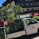 Mülltonnen abholen von den Umzugs-Aufstellungsplätzen am Omesberg