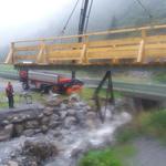 Neue Brückenlager Monzabonbach