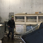 Alteisen-Sammelstelle aufräumen