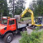 Kracherbach Wehr ausbaggern