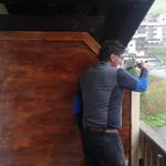 Haus Stubenbach, Balkontrennwand bauen und montieren