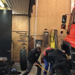 U400 Reifenwechsel und Abbau Streuer