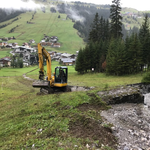 Verklausung Kracherbach aufräumen
