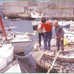 Pêche à la crevette sur les tonnes au Palais