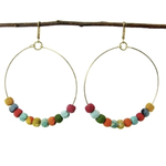 Kantha Ohrringe Beaded Hoop – 19 €