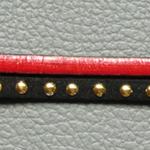 bracelet suédine rouge noir et doré