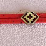 Liège rouge ; bracelet léger ; idée cadeau bijou