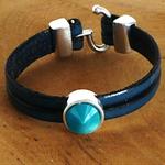bracelet bleu ; bracelet pour soirée ; anniversaire de mariage 2 ans