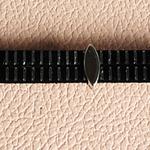 Bracelet cuir à rayures argent ; bracelet en cuir noir et argenté ; cadeau pour noces cuir