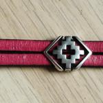 bracelet géométrique ; bracelet en cuir bonne qualité