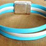 bracelet bi-color en cuir