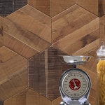 ラフクリア オーク 六角形タイル 木製タイル モザイクタイル ブイジュウニ V12 ブイジュウニフローリング ビンテージプラス ビンテージ アンティーク フローリング 無垢フローリング エイジング リノべ リノベーション おしゃれ インテリア ビンテージプラス vintage antique flooring