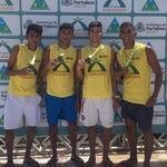 Footvolley-Meister vom Zentrum La Siesta (von links): Matheus Almeida, Israel Moreira, Guilherme Dantas und Jaison Silva