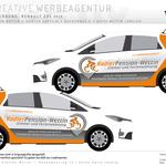 Radlerpension Wettin Renault Zoe - Digitaldruck 3M