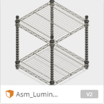 Luminous Steel rack