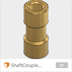 Shaft coupler 3.17 x 5