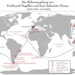 Die 1. Weltumsegelung durch die Expedition von Ferdinand Magellan