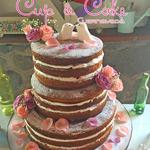 Pastel para Boda en cuernavaca morelos naked con frutas