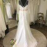 Brautkleid, Fit´n Flare, Spitze, Ärmel, Gr. 44/46 , Herzausschnitt, Verkaufspreis 399,00 Euro