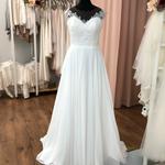 Brautkleid, Hochzeitskleid, Vintage,  Chiffonrock,  Gr. 36,  Neu und ungetragen