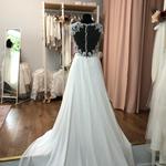 Brautkleid, Neu und ungetragen, Vintage, A-Linie Gr. 42,  Chiffonrock, fließend, Lillian West