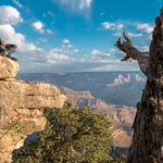 André Borschberg training his Yoga skills at the Grand Canyon, Arizona ©Solar Impulse | Revillard | Rezo.ch