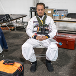 Andre Borschberg meditates before take-off ©Solar Impulse | Revillard | Rezo.ch