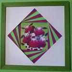 <h2>cadre vache en folie - biseau tourbillon<h2>