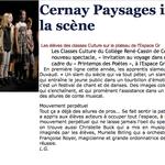 """En 2010 - 2011, dans le cadre d'ateliers artistiques à Cernay, une expérience de poésie collective """"circulez, poètes"""" a été proposée à des élèves du collège René Cassin."""