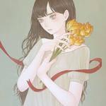 「だいじょうぶ」 455x530mm キャンバスにアクリル Acrylic on Canvas