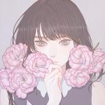 「私のための花」 273x273mm キャンバスにアクリル Acrylic on Canvas