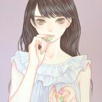 「甘いシュガーレス」 242x333mm キャンバスにアクリル Acrylic on Canvas