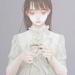 「花から冠へ」 318x410mm キャンバスにアクリル Acrylic on Canvas