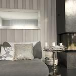 tapezierarbeiten stofftapete im wohnzimmer in dettighofen