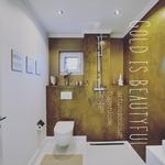 echtmetallhaut gold im gäste wc