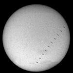 Transit de l'ISS devant le Soleil, 0,6s le 15 août 2019, observatoire de Saint Véran, Jean-François