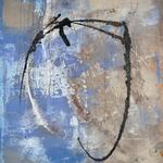 Enrspannung im Blau, Collage, 120 x 100 cm , 2013