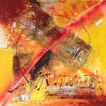 Sonnenspiel, Collage, 100 x 100cm, 2014