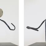 Dans tes bras, galet-plomb-métal, 15x15x17 cm, 2002