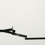 D'un geste de la main, gravure bois, 32x23 cm, 2005