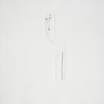 A demi-mot, gravure pointe sèche, gaufrage, 40x40 cm, 1/3, 2005