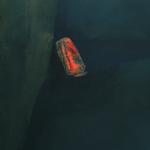Lave en fusion, encre sur papier Arches, 50x64 cm, 1988