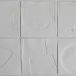 Des traces dans la neige, 6 gaufrages, 1 gaufrage format 15x15 cm, 2012