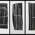 Série, gravure bois, format 15,5x38 cm, 1991